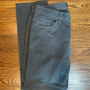 Charcoal grey men's theory pants.